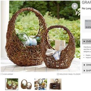NEW! Pottery Barn Grapevine Basket William Sonoma